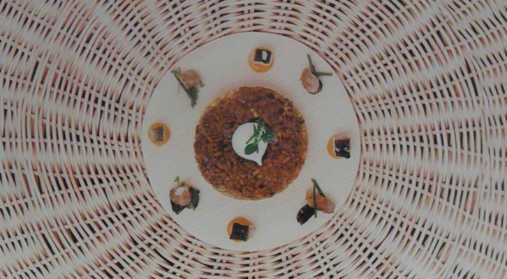 Una de las propuestas de la exposición 'Diseño al plato' en La Nau de la Universitat de València.
