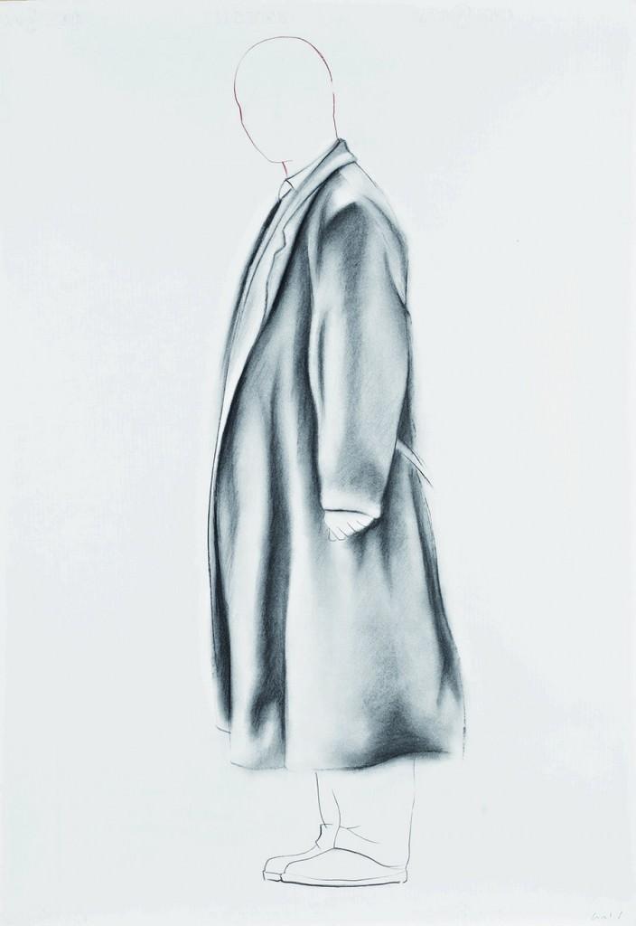 Obra de Carlos Domingo Redón en la exposición Sobre papel en el MUA. Cortesía de Colección Tomás Ruiz