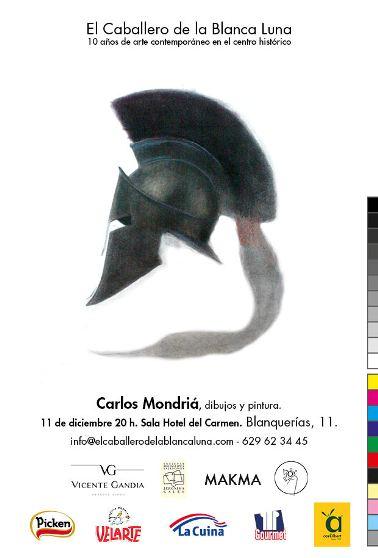 Cartel de la exposición de Carlos Mondriá.