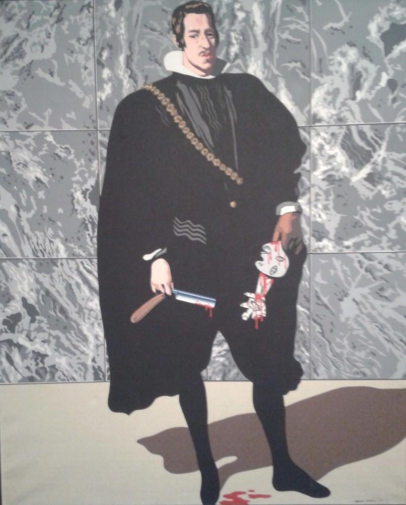 Juegos peligrosos, de la serie Guernica, de Equipo Crónica. Museo de Bellas Artes Bilbao.