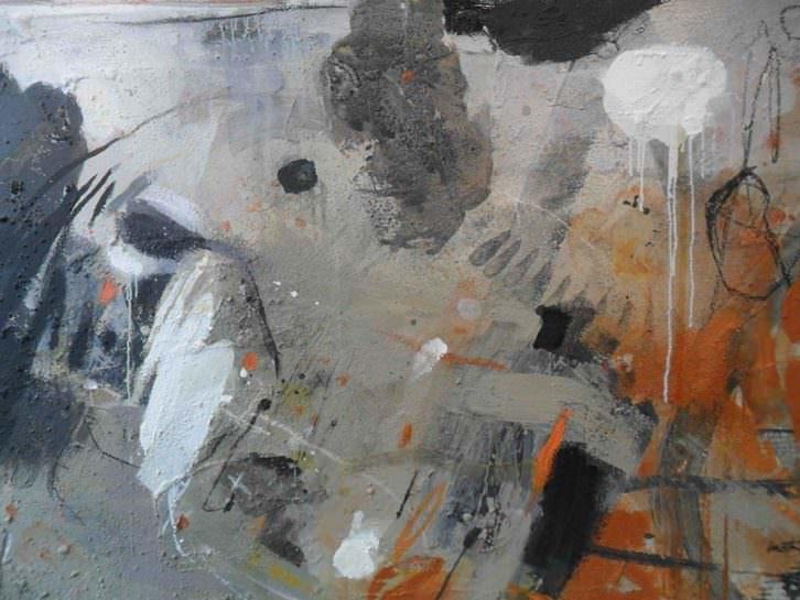 Obra de Laura Iniesta en la exposición 'Mujer Tierra'. Galería Alba Cabrera.