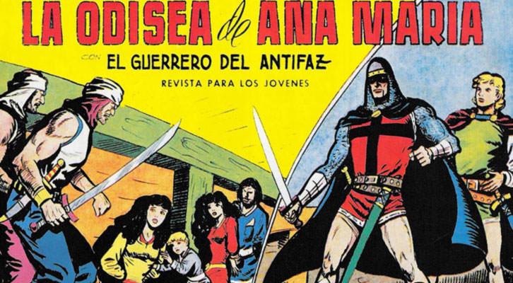 El guerrero del antifaz, de Manuel Gago, en 'Herois del tebeo valencià, de Quico Díaz. Filmoteca de CulturArts IVAC.