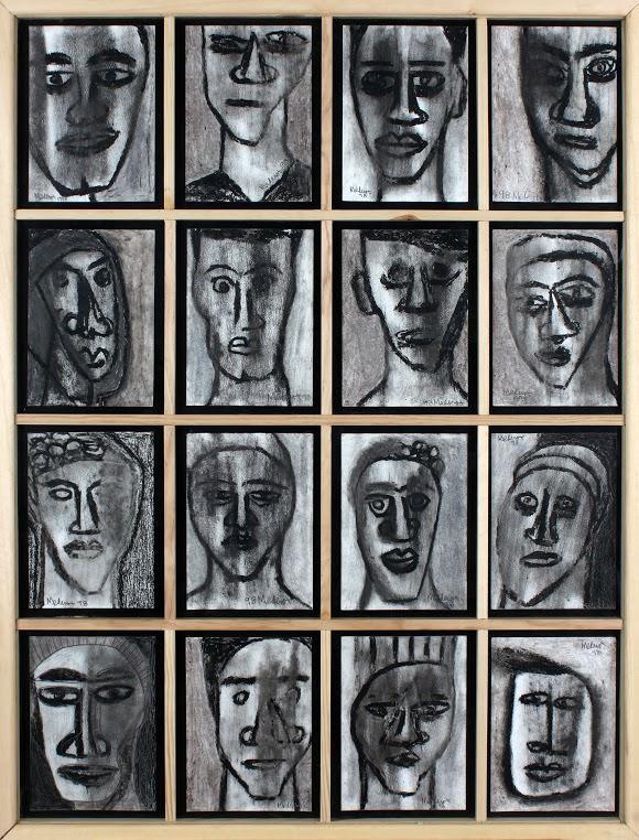 Obra de José Mederos en la exposición Sobre papel en el Museo de la Universidad de Alicante. Cortesía de Colección Tomás Ruiz.