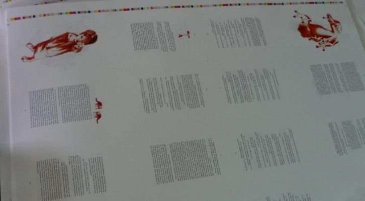 Primera prueba de imprenta. Imagen, Vicente Chambó.