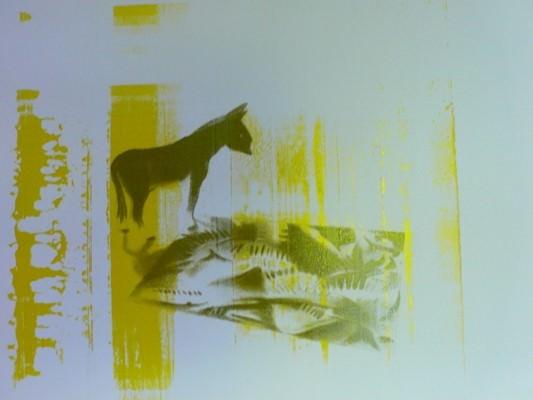 Plancha manchada después de imprimir. Imagen Vicente Chambó.