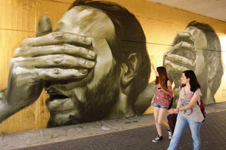 Grafitti de La Mesa en el Poliniza de 2012. Imagen cortesía de la UPV.