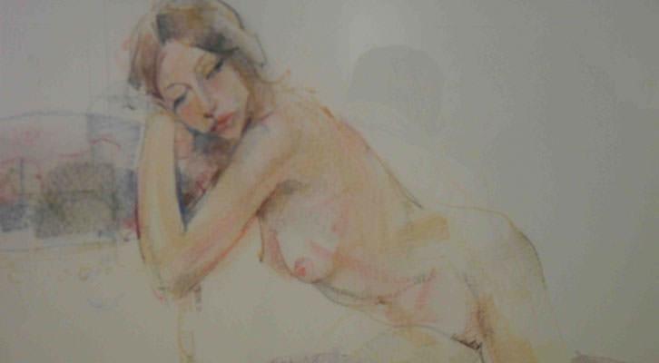 Obra de Pilar Redón en el Aula de Cultura La Llotgeta.