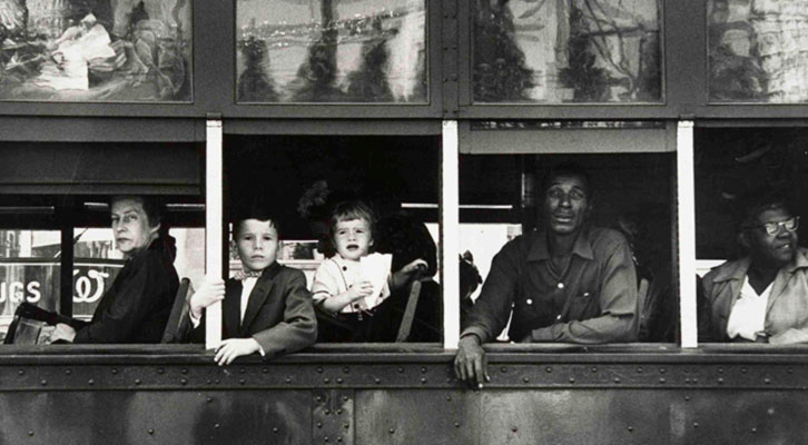 Fotografía de Robert Frank en 'El paisaje urbano en la Colección de Fotografía del IVAM'.