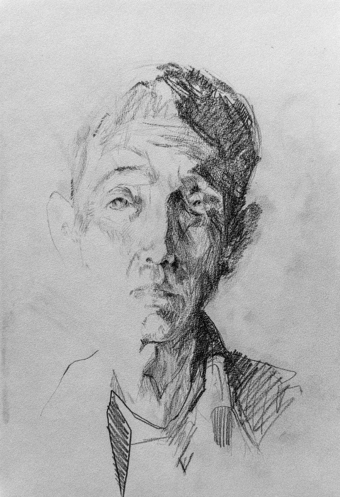 Uno de los rostros de Carlos Sebastiá en el OCCC. Cortesía de Instituto Confucio de la Universitat de València.