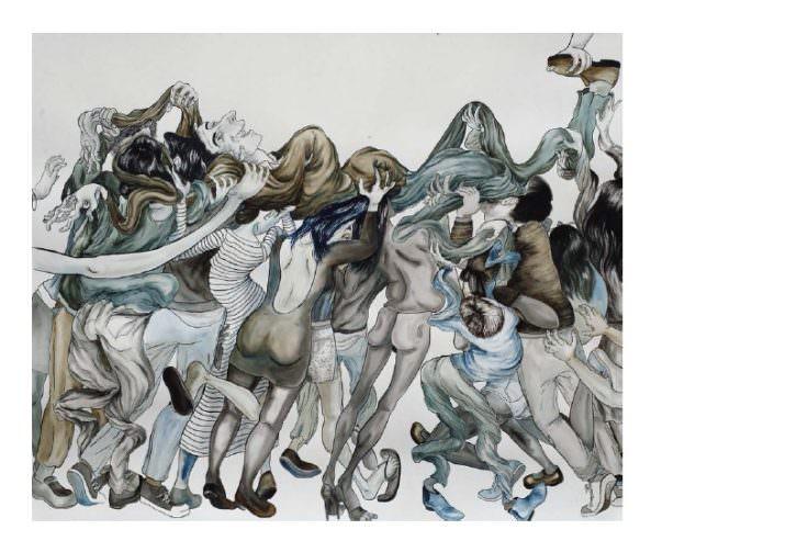 Obra de Saelia Aparicio, de galería Javier Silva. Imagen cortesía de los organizadores.
