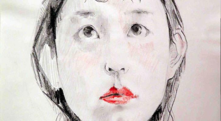 Uno de los rostros de Carlos Sebastiá en el Octubre Centre de Cultura Contemporània. Imagen cortesia del autor.