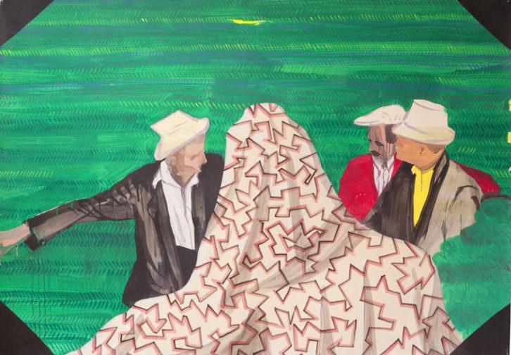 Obra de Miki Leal en la exposición 'Balada heavy'. Imagen cortesía de Galería Luis Adelantado.