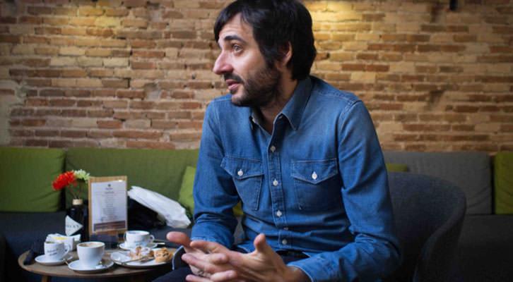 Vicente Martínez, en un momento de los Desayunos Makma en Lotelito. Fotografía: Gala Font de Mora.
