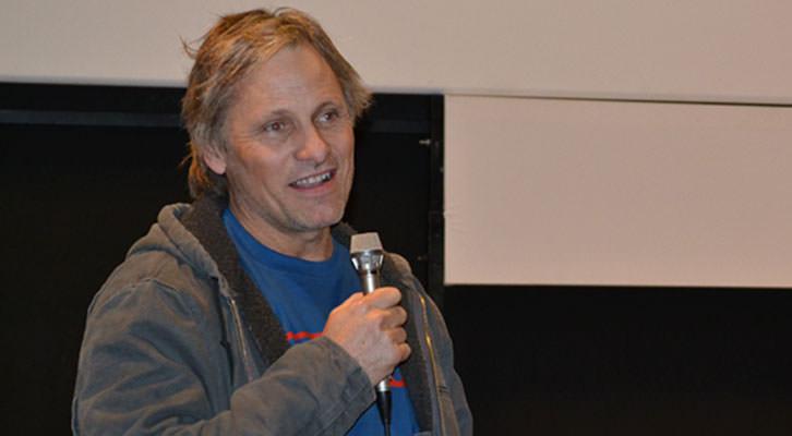Viggo Mortensen, en la Sala Berlanga durante la presentación de su última película 'Jauja'. Imagen cortesía de CulturArts IVAC.