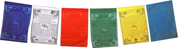 Banderas de plegaria tibetanas.