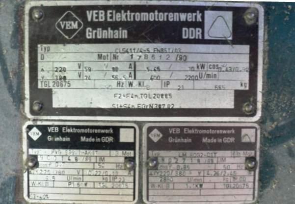 Imprenta Planet Variant. Placa identificativa de su fabricación en Berlín, antigua República Democrática Alemana. Imagen, Vicente Chambó.