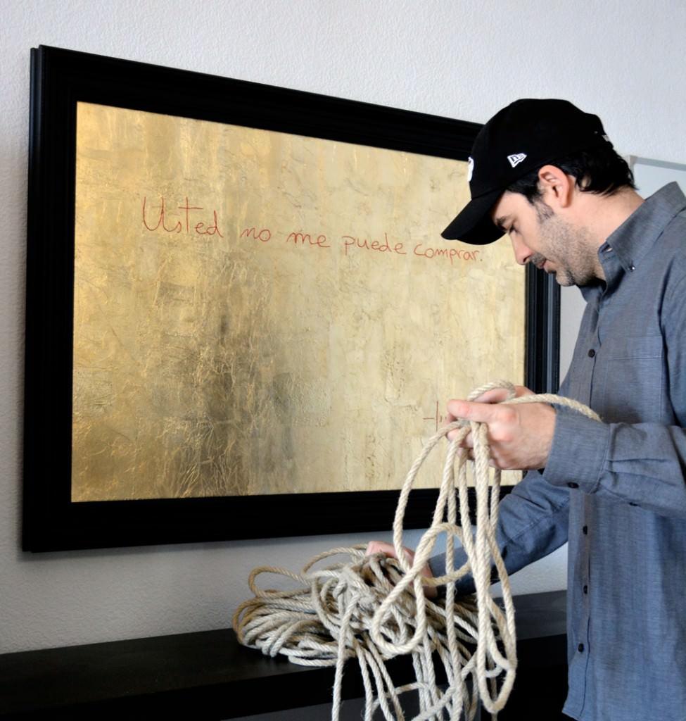 Usted no me puede comprar, obra de Marc Montijano. Hidden Gallery por cortesía del autor.