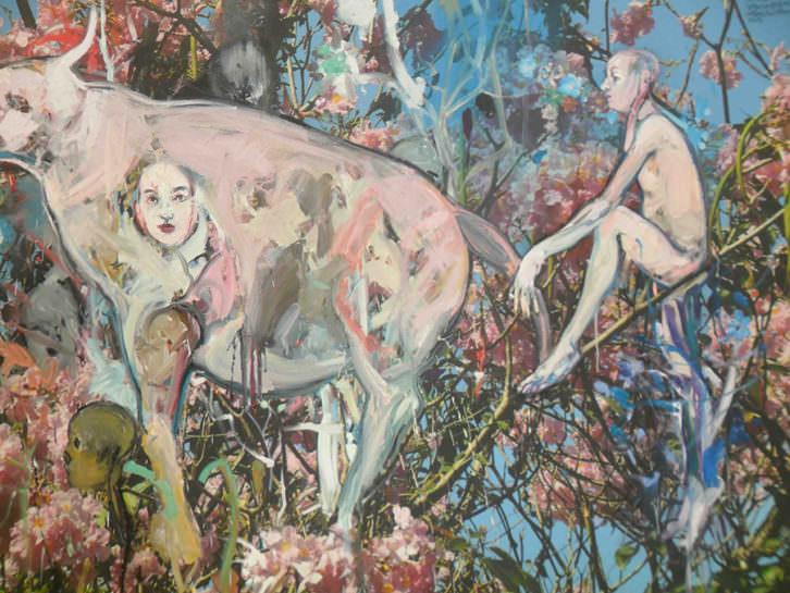 Obra de Carlos Quintana en la exposición 'La tercera orilla'.