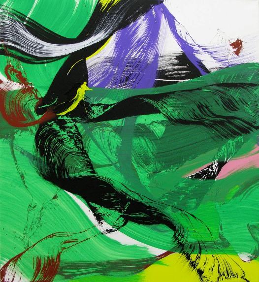 She´s like a rainbow VIII. De Juan Olivares. (110 x 100 cm.)