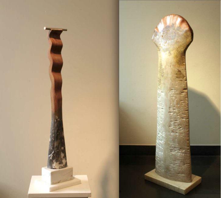 Obras de Antonio Núñez en la exposición 'Colectiva'. Imagen cortesía de Lametro.