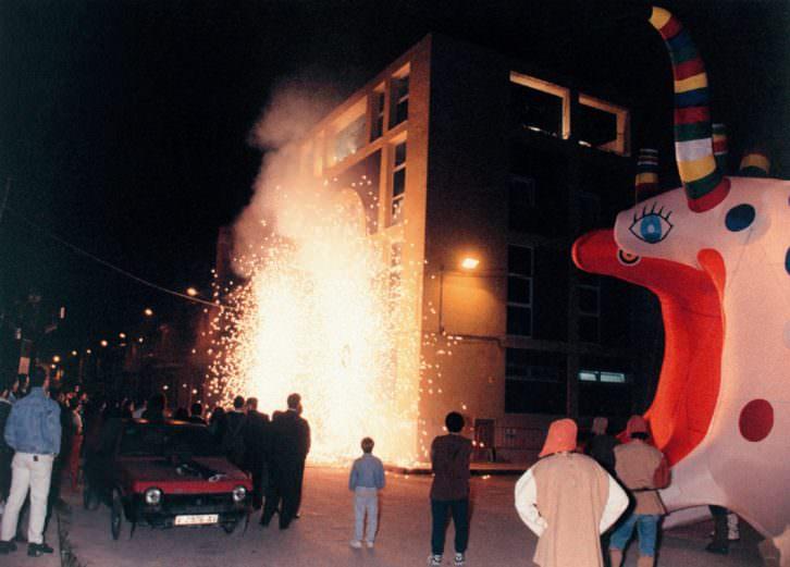 Imagen de la inauguración de la Sala L'Horta en 1995. Cortesía de L'Horta Teatre.