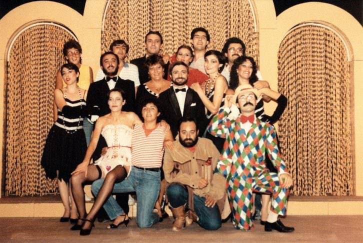Miembros de la compañía L'Horta Teatre en el momento de su fundación. Imagen cortesía de L'Horta Teatre.