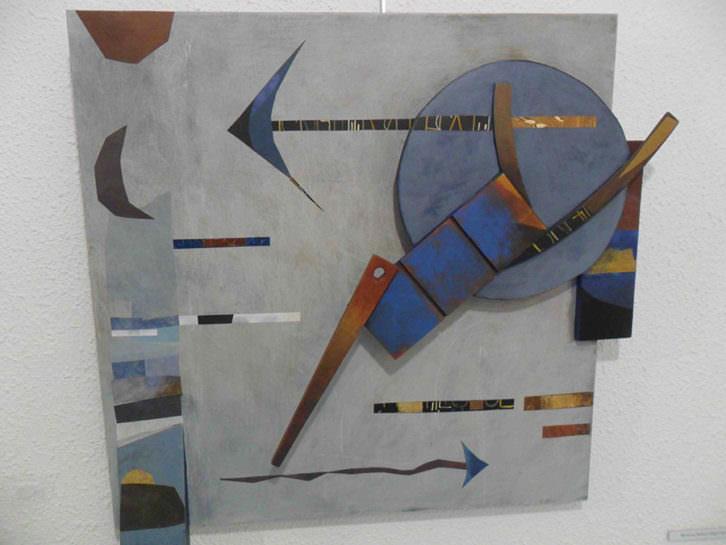 Obra de Mariona Brine y Martí Rom en la exposición 'Juntos en la diversidad' en Galería del Palau.