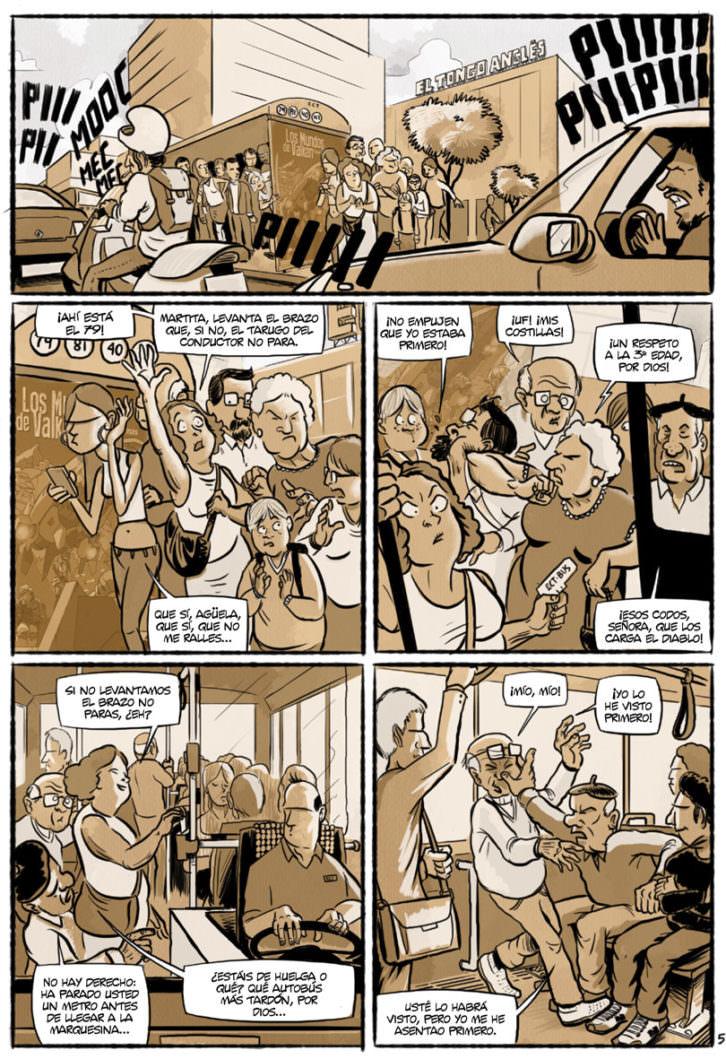 Viñeta del cómic 'Chorizos. Atraco a la española', de Ricardo Vilbor. Editorial Grafito.