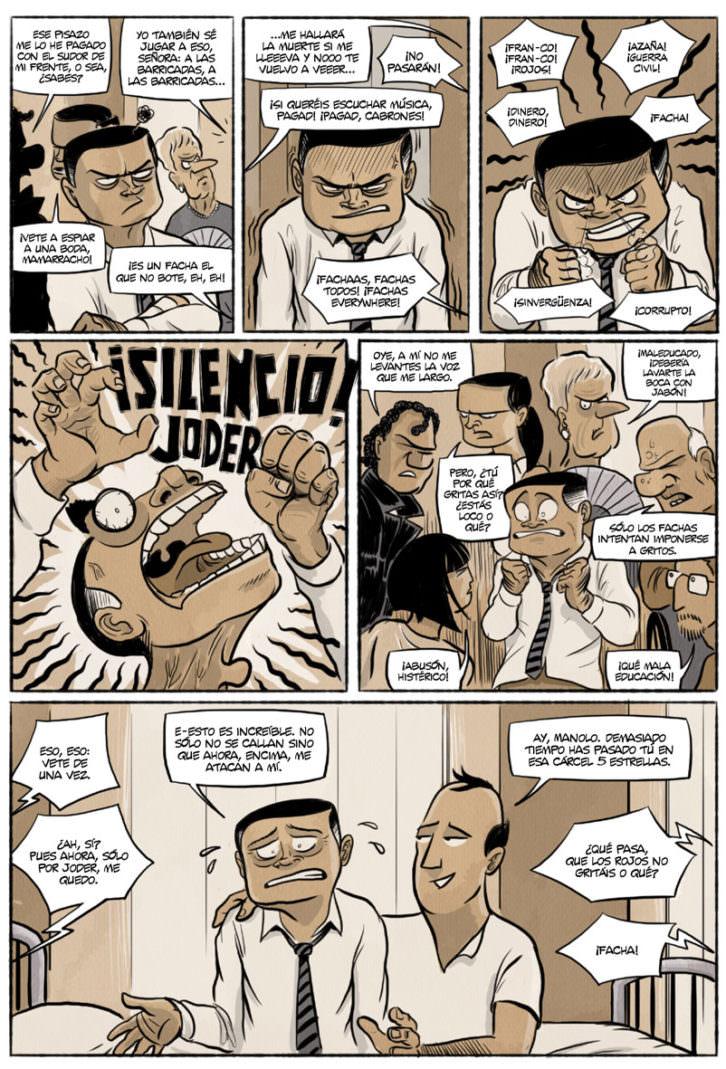 Viñetas de 'Chorizos. Atraco a la española', de Ricardo Vilbor y Ricar González. Editorial Grafito.