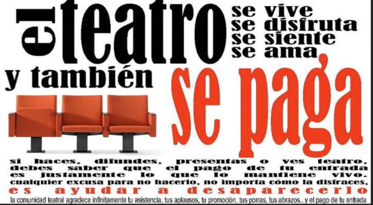 Cartel de la presentación en su día de la campaña de sensibilización del teatro.