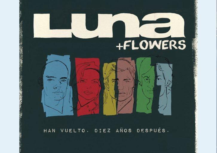Cartel anunciador de la actuación de Luna y Flowers en Espai Rambleta.
