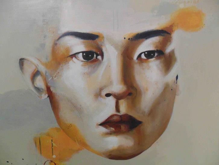 Obra de Lupe Godoy en la exposición 'Juntos en la diversidad' en Galería del Palau.