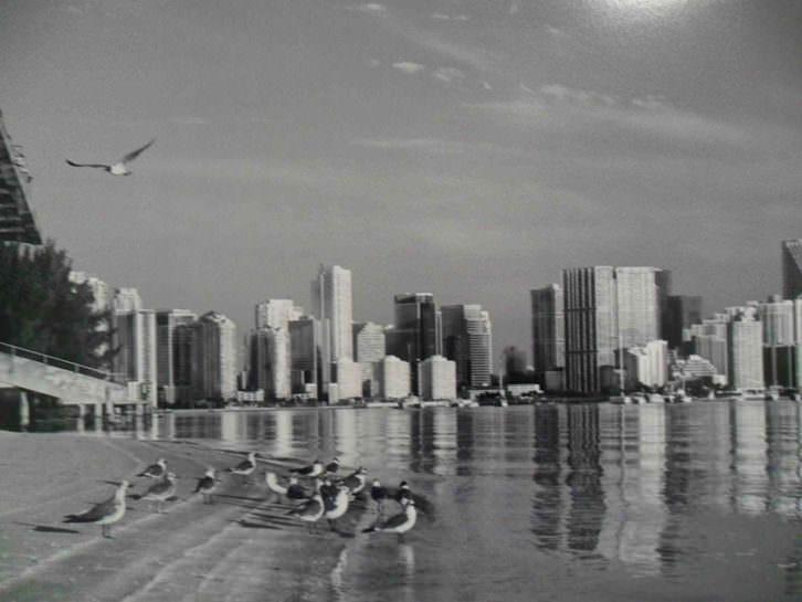 Fotografía de Flor Mayoral en la exposición 'Entre dos aguas: La Habana-Miami-Valencia'. Centro del Carmen.