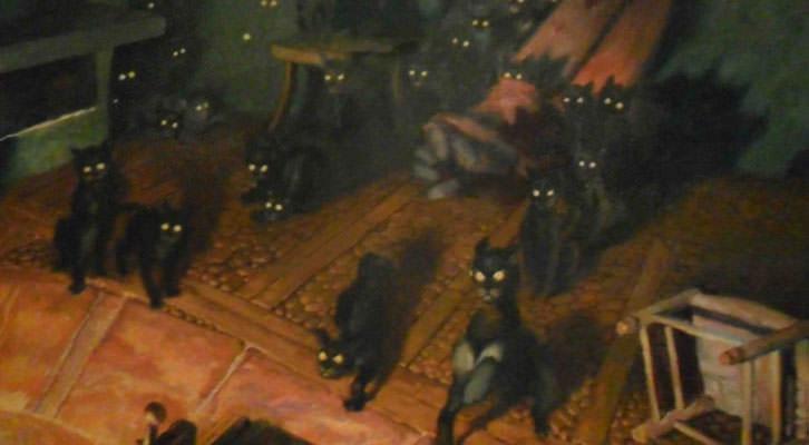 Els gats (Cuentos de Grimm), de José Segrelles, en la exposición del MuVIM.