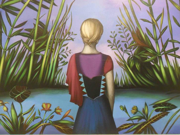 Obra de Silvina Beranguer en la exposición 'Juntos en la diversidad' en Galería del Palau.