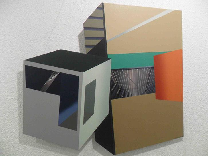 Pieza de Hans Dieter Zingraff en la exposición 'Juntos en la diversidad' en Galería del Palau.
