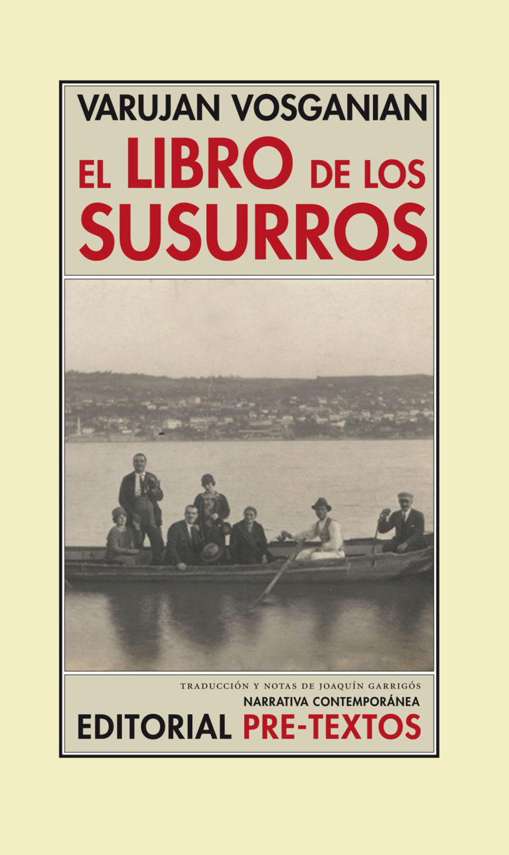 Portada de 'El libro de los susurros', de Varujan Vosganian. Editorial Pre-Textos.