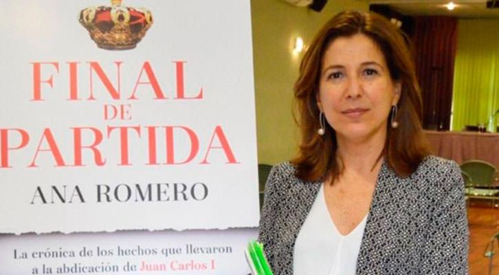 Ana Romero en la presentación de su libro 'Final de partida'. Imagen de Europa Press.