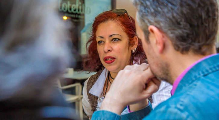 Bia Santos, durante los Desayunos Makma en Lotelito. Fotografía: Ana Pastor.