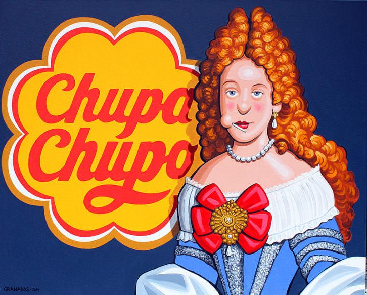 Chupa Chupo, en alusión a Mariana de Neoburgo, de Javier Granados, en 'Otra historia'. Imagen cortesía de Alba Cabrera.