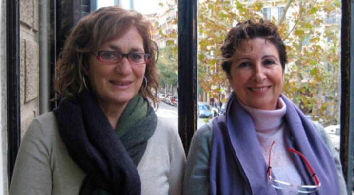 Anna Miñarro y Teresa Morandi, autoras del libro.