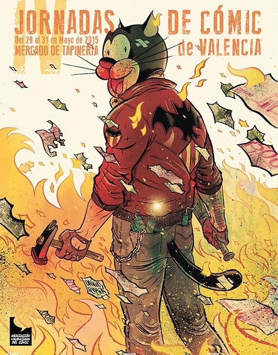 Cartel de las IV Jornadas de Cómic de Valencia.