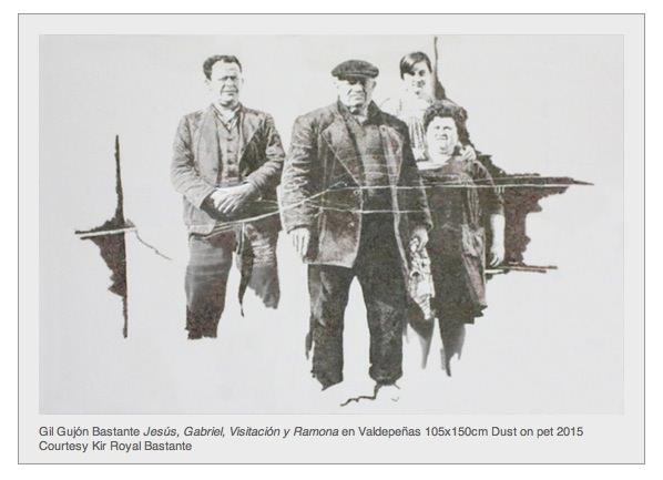 Obra de Gil Gijón en 'Ausencia'. Imagen cortesía de Kir Royal.