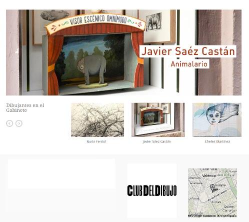 Javier Sáez Castán en el Gabinete de dibujos de Gris.