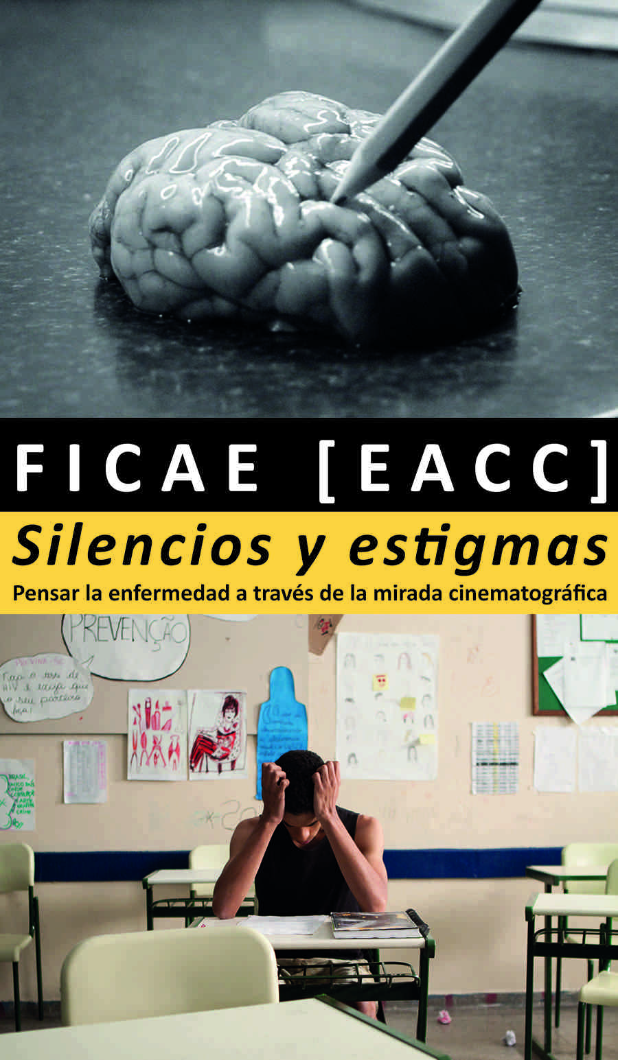 Cartel de 'Silencios y estigmas'. Cortesía de FICAE y EACC.