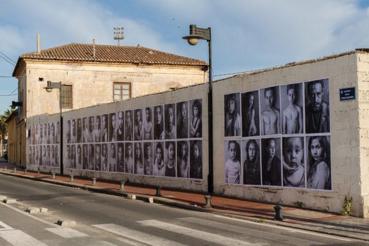 Intervención de Jorge López en El Cabanyal. Cortesía del artista.