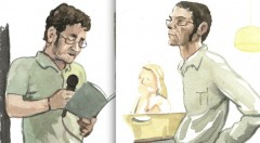 Toni Moll (izquierda) y Víctor Segrelles, según Gabriel Alonso en su 'Relatos furtivos en el Malva'.