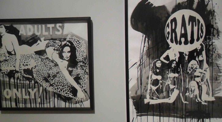 Obras de Mavi Escamilla en la exposición Mundo B del Centre Cultural La Nau.