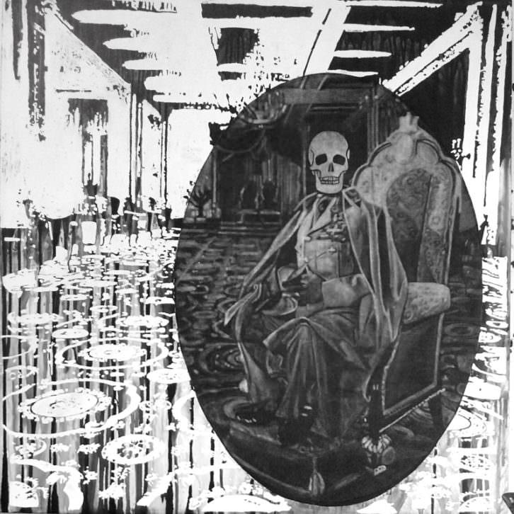 Obra de Mavi Escamilla en la exposición Mundo B. Sala Martínez Guerricabietia del Centre Cultural La Nau.