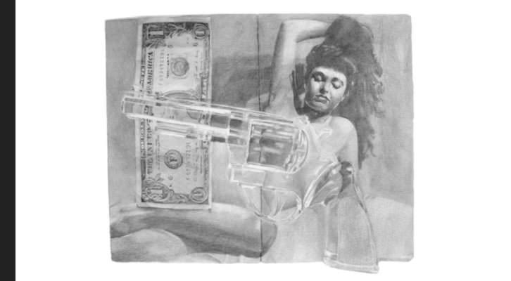 Obra de Mavi Escamilla en la exposición 'Mundo B' del Centre Cultural La Nau.